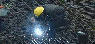 Arbeitsschutz auf einer Baustelle