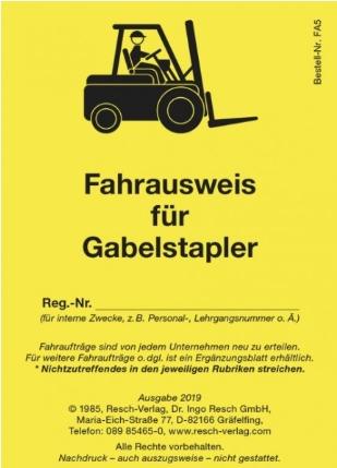 Gabelstaplerfahrer-Ausbildung